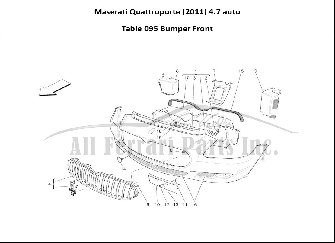 buy original maserati quattroporte (2011) 4.7 auto 095 ... ferrari parts diagram