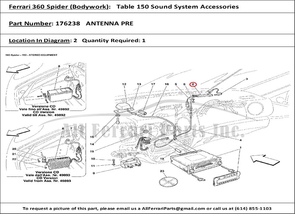 Ferrari 360,430,550 Antenna Pre-Amplifer # 176238