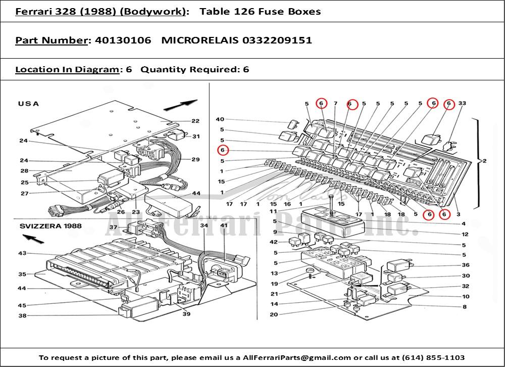 Ferrari Part 40130106 Microrelais 0332209151