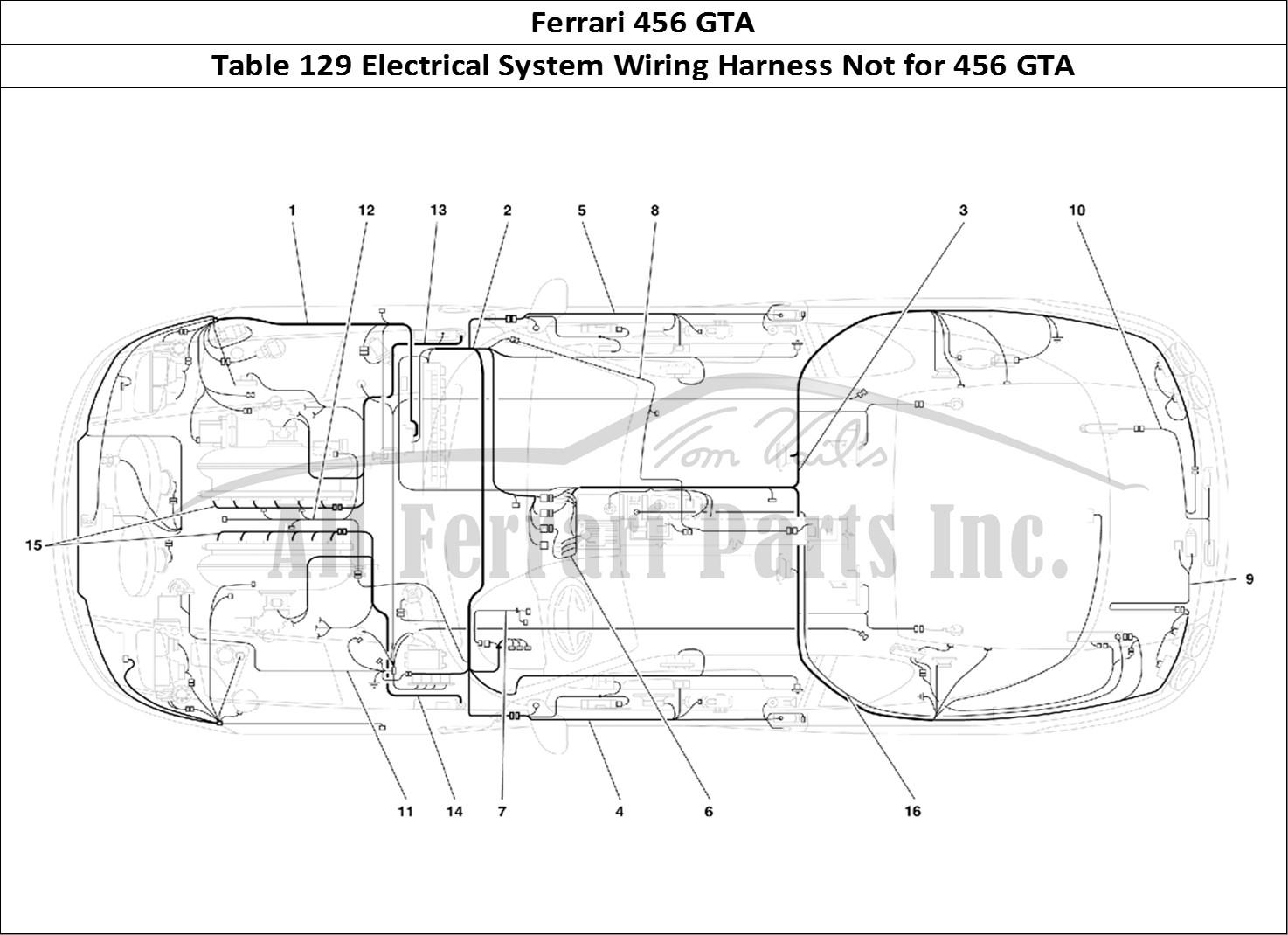 Buy Original Ferrari 456 Gta 129 Electrical System Wiring