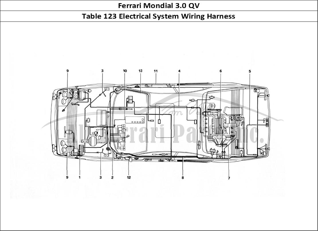 Buy Original Ferrari Mondial 3 0 Qv 123 Electrical System