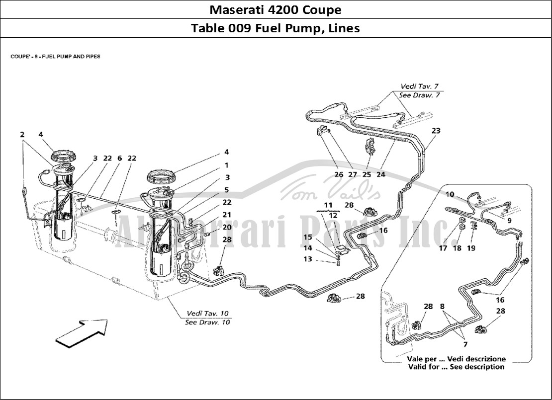 Buy Original Maserati 4200 Coupe 009 Fuel Pump Lines Ferrari Parts Drawing Mechanical Table