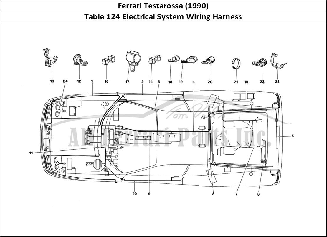 Buy Original Ferrari Testarossa  1990  124 Electrical