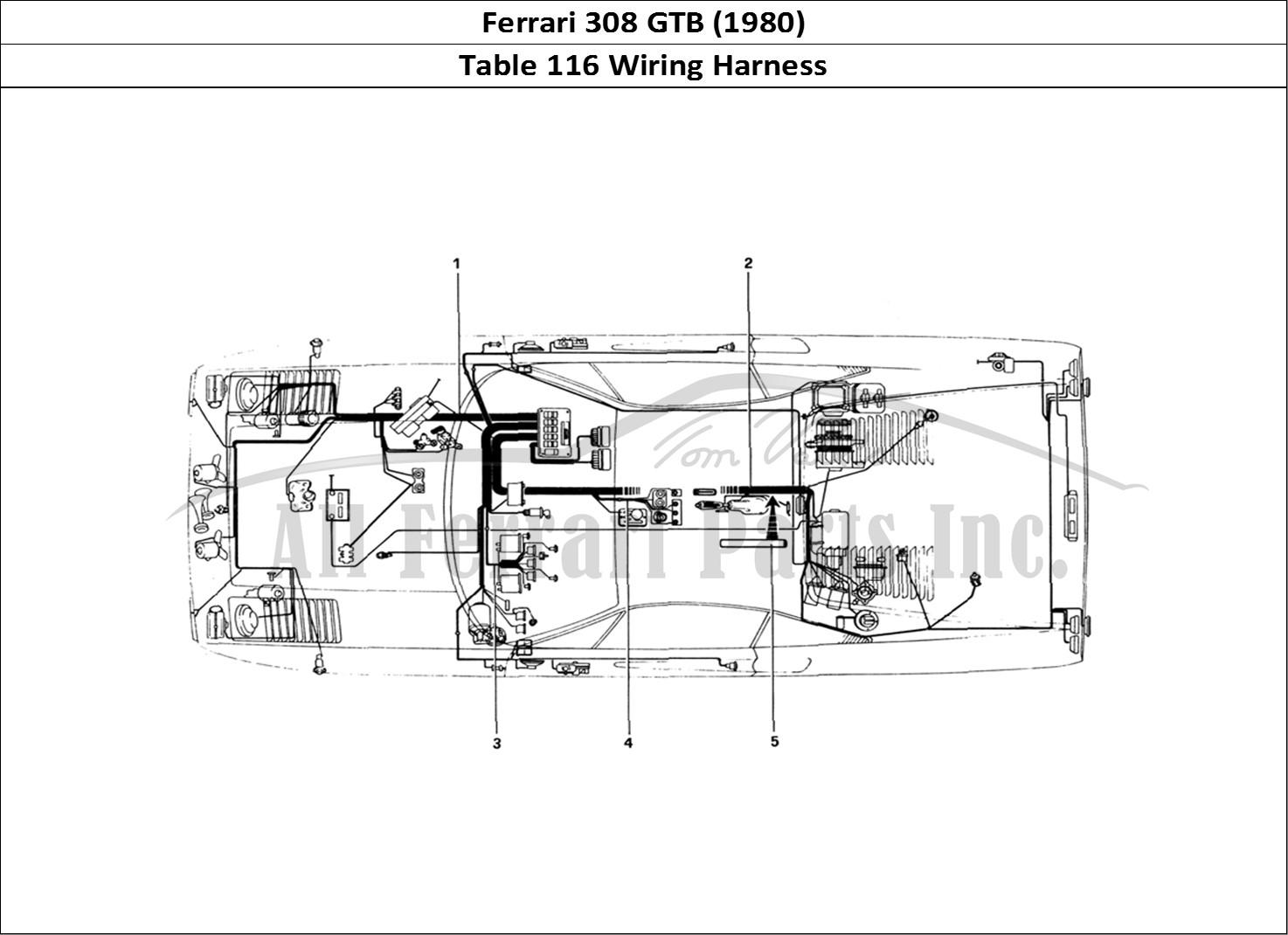 buy original ferrari 308 gtb  1980  116 wiring harness