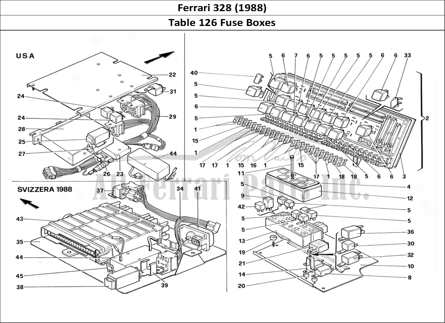 Buy Original Ferrari 328  1988  126 Fuse Boxes Ferrari Parts  Spares  Accessories Online