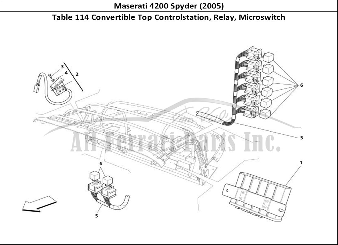Buy Original Maserati 4200 Spyder 2005 114 Convertible Top Wiring Diagram Bodywork Table Controlstation Relay Microswitch