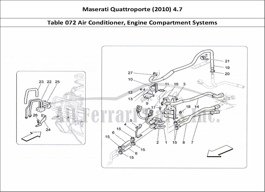 Buy original Maserati Quattroporte (2010) 4.7 072 Air Conditioner, Engine  Compartment Systems Ferrari parts, spares, accessories onlineAll Ferrari Parts