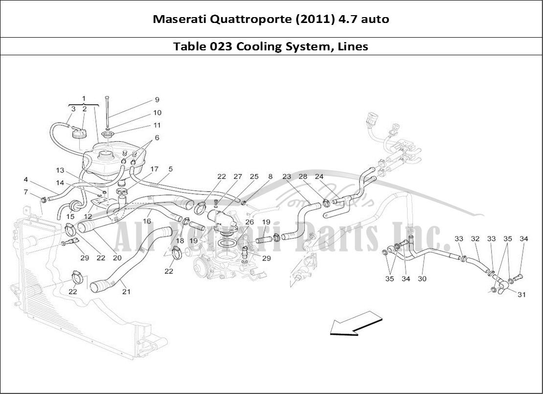 Buy Original Maserati Quattroporte  2011  4 7 Auto 023 Cooling System  Lines Ferrari Parts